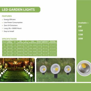 LED GARDEN LIGHTS SPECS