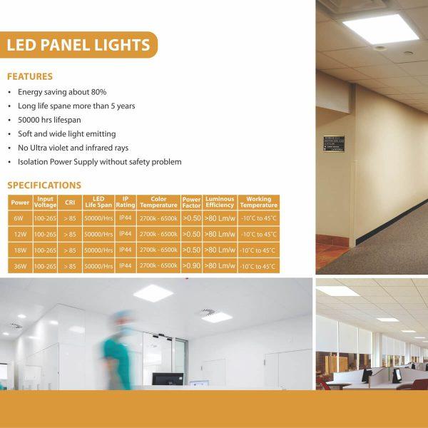 LED PANEL LIGHT SPECS