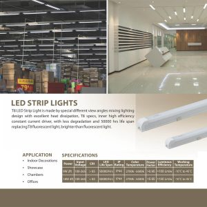 LED T8 STRIP LIGHT SPECS