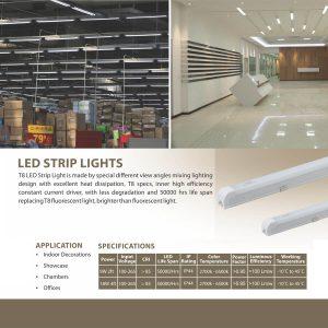 LED T8 STRIP LIGHT SPECS